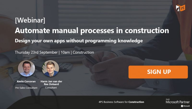Webinar: Automate manual processes in construction