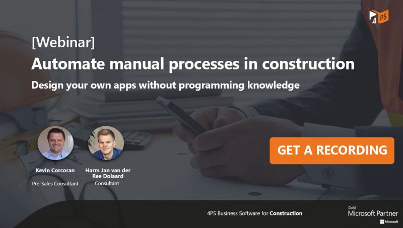 Webinar recording: Automate manual processes in construction