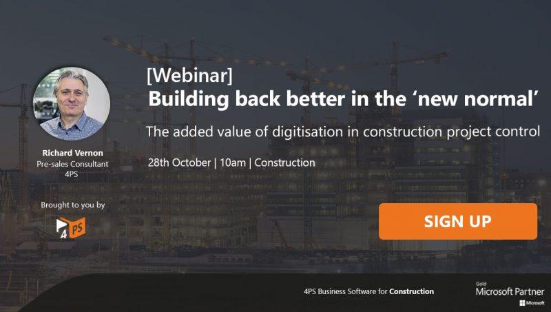 Webinar: Building back better in the 'new normal'