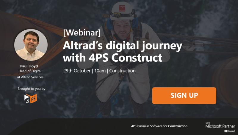 Webinar: Altrad's digital journey with 4PS Construct