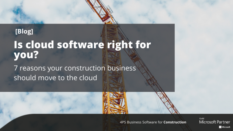 Blog: 7 reasons your construction business should move to the cloud