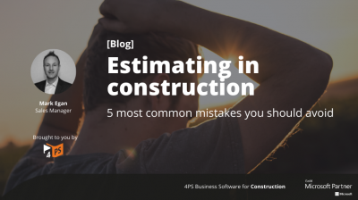 Blog: 5 mistakes when estimating