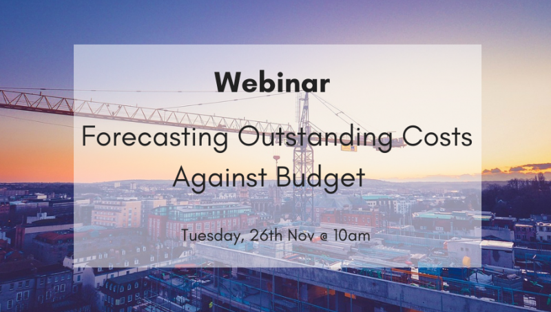 Webinar: Forecasting Outstanding Costs Against Budget in 4PS Construct