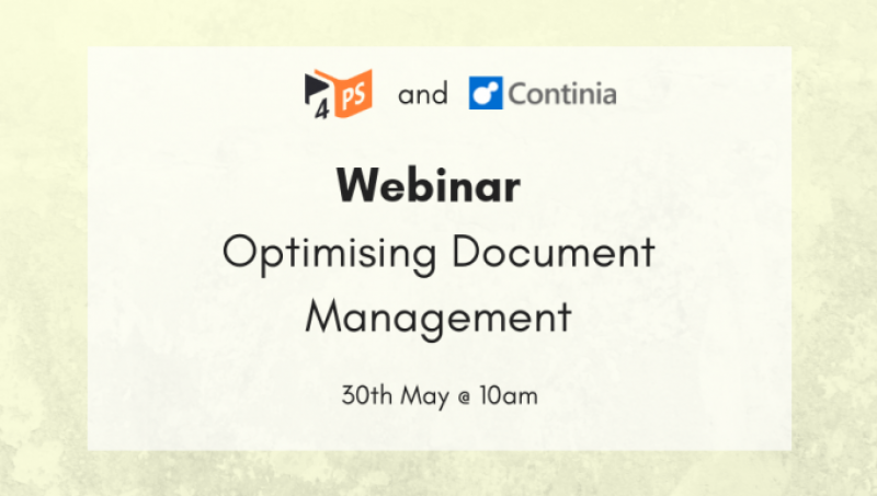 Optimising Document Management Process | 30-5-2019