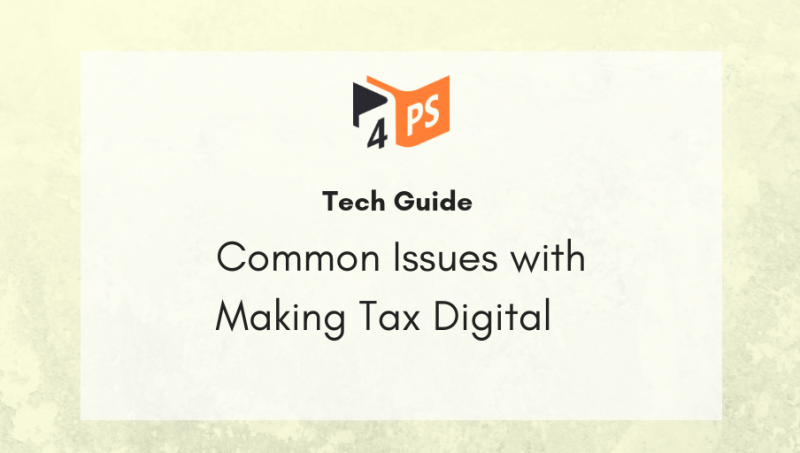 Common Issues with Making Tax Digital