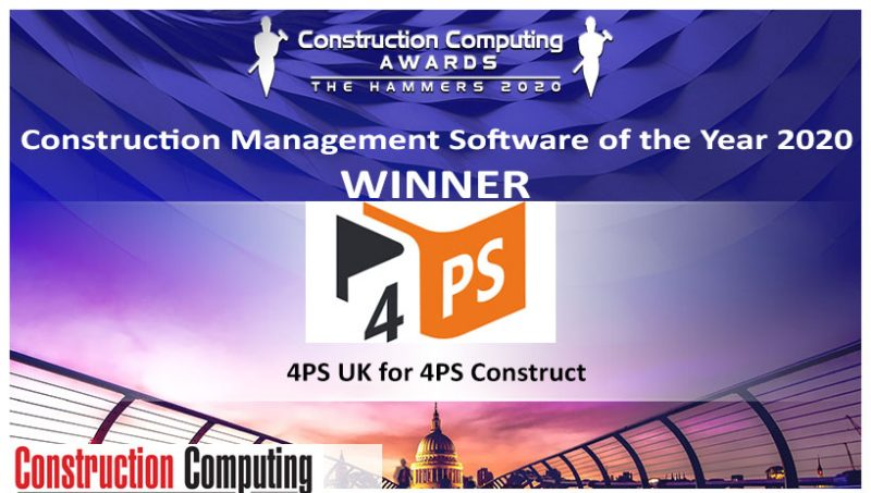 Construction Management Software of the Year Award Winner